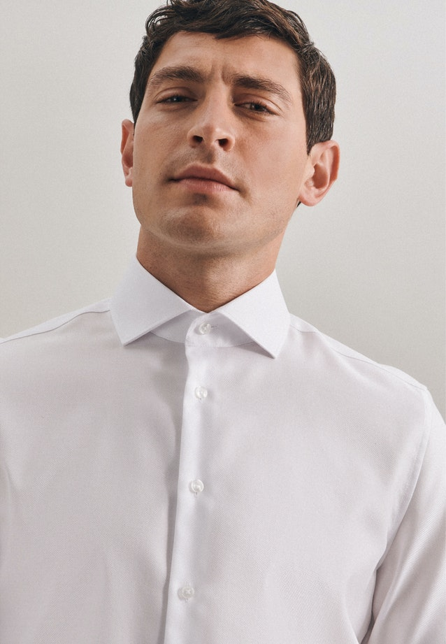 Easy-iron Struktur Business Shirt in Slim with Kent-Collar in White |  Seidensticker Onlineshop
