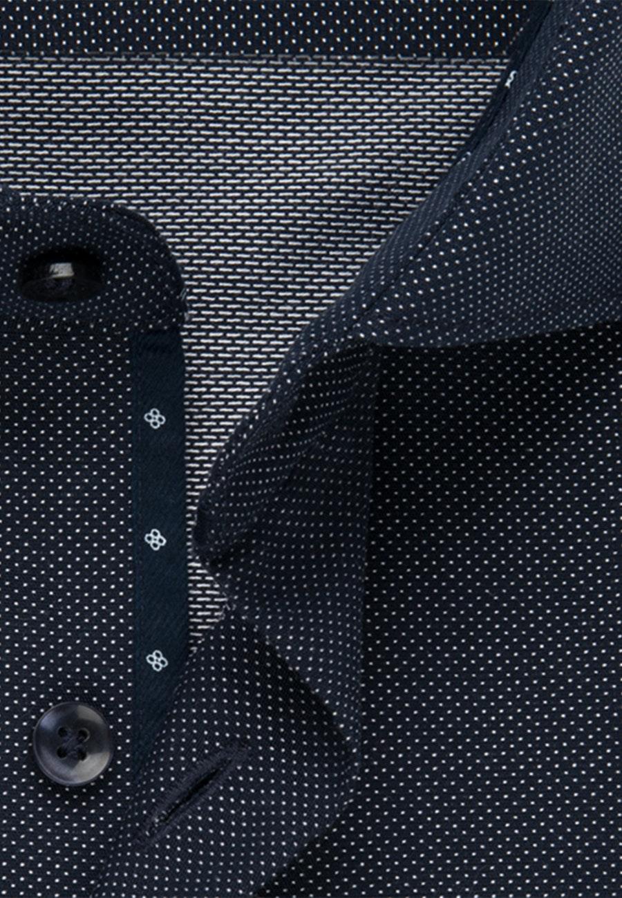 Bügelfreies Dobby Business Hemd in Shaped mit Kentkragen in Dunkelblau |  Seidensticker Onlineshop