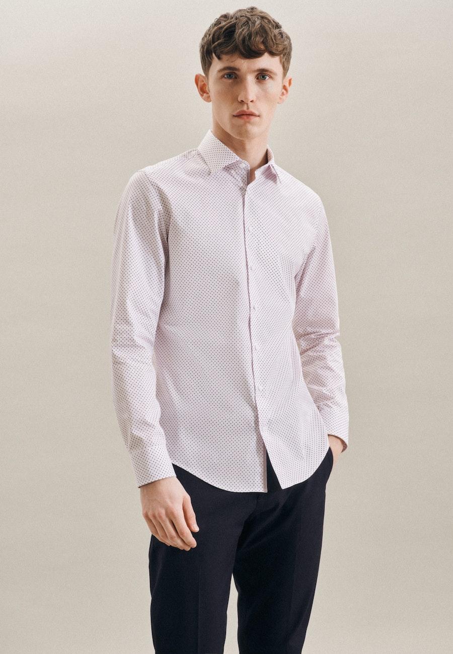 Bügelleichtes Popeline Business Hemd in Slim mit Kentkragen in Rot    Seidensticker Onlineshop