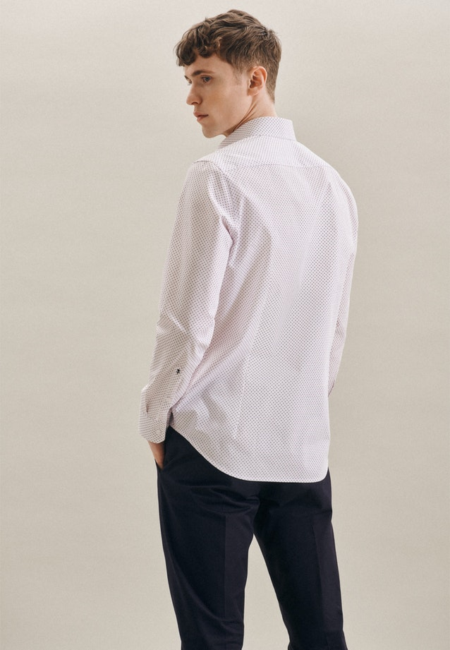 Easy-iron Popeline Business Shirt in Slim with Kent-Collar in Red |  Seidensticker Onlineshop
