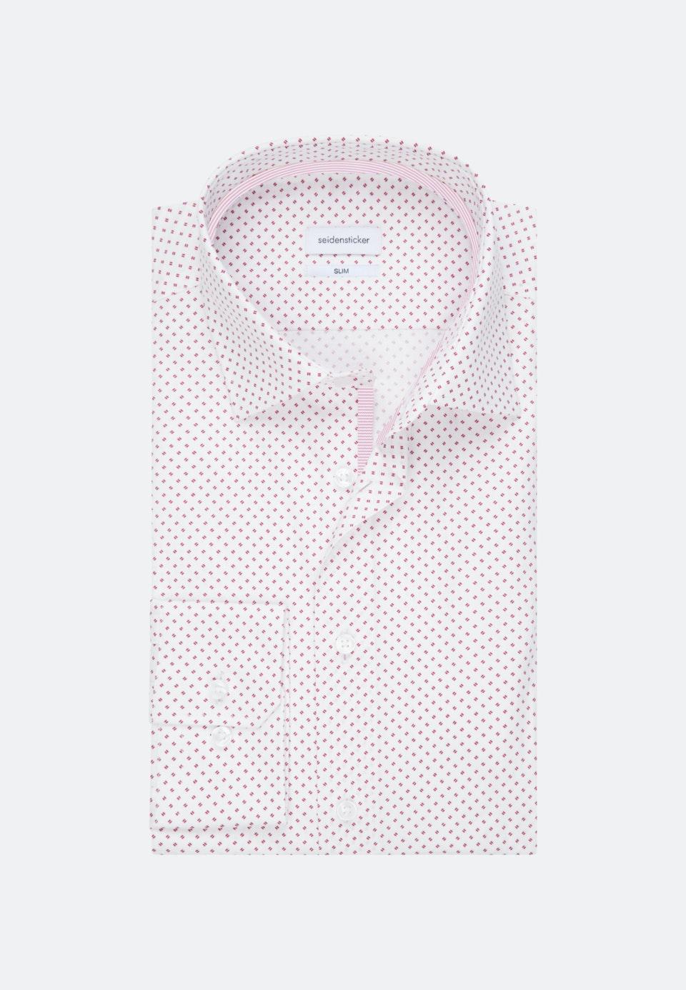 Popeline Business Hemd in Slim mit Kentkragen in Rot    Seidensticker Onlineshop