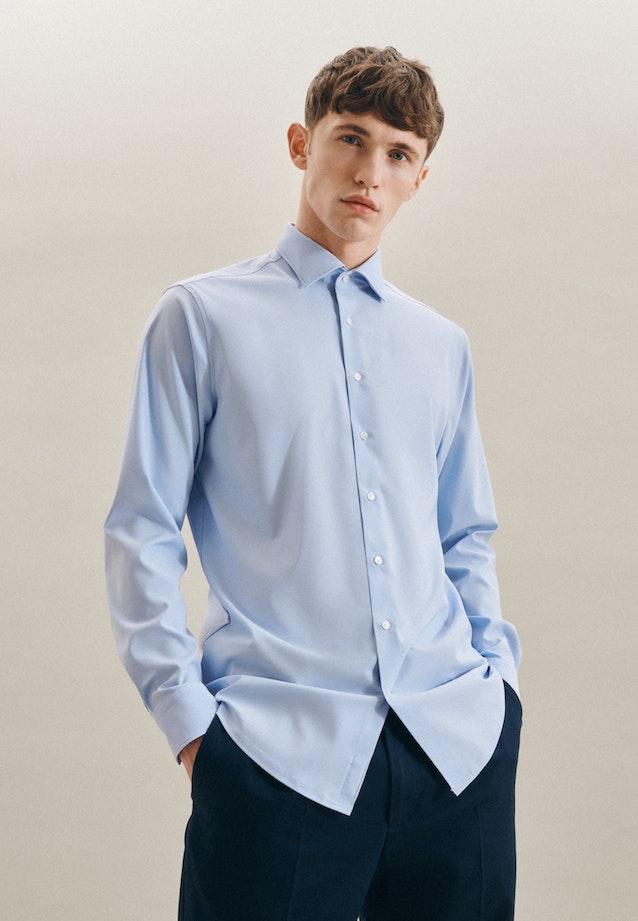 Twill Business Shirt in Regular with Kent-Collar in Light blue |  Seidensticker Onlineshop