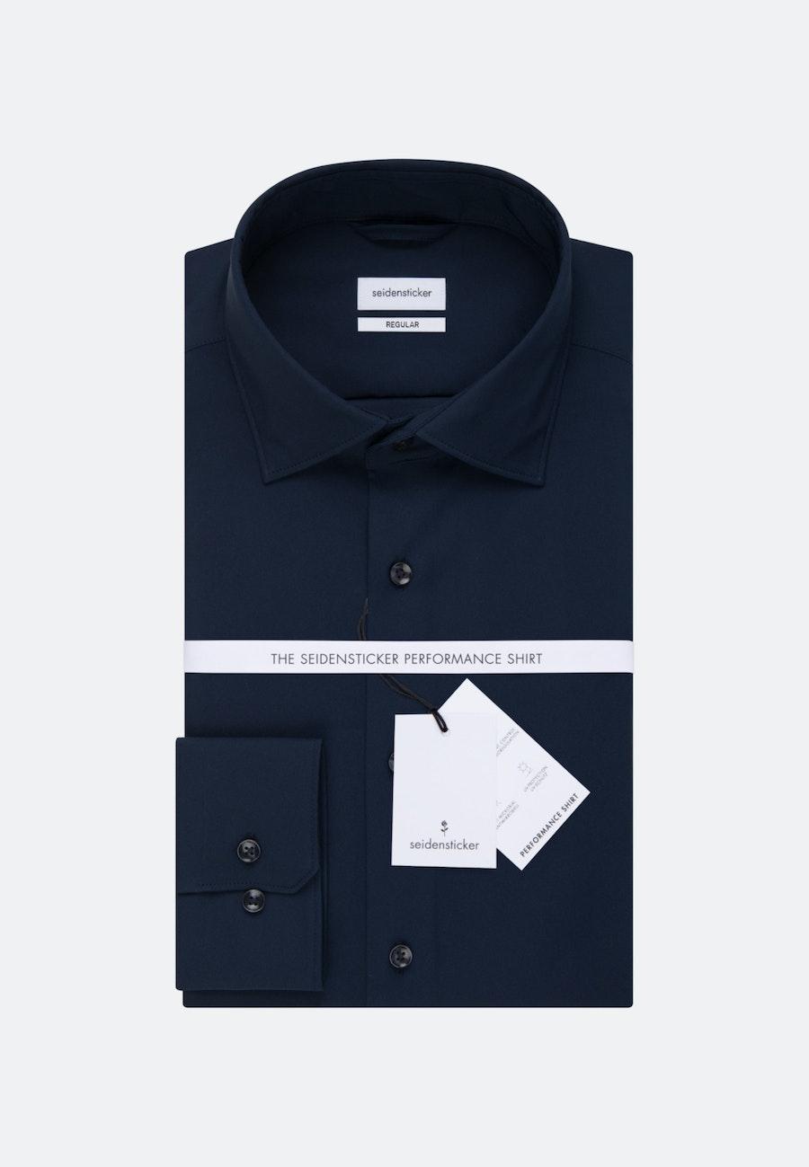 Performance shirt in Regular with Kent-Collar in Dark blue |  Seidensticker Onlineshop