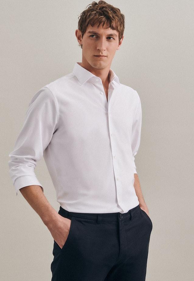 Twill Business Hemd in Regular mit Kentkragen in Weiß |  Seidensticker Onlineshop