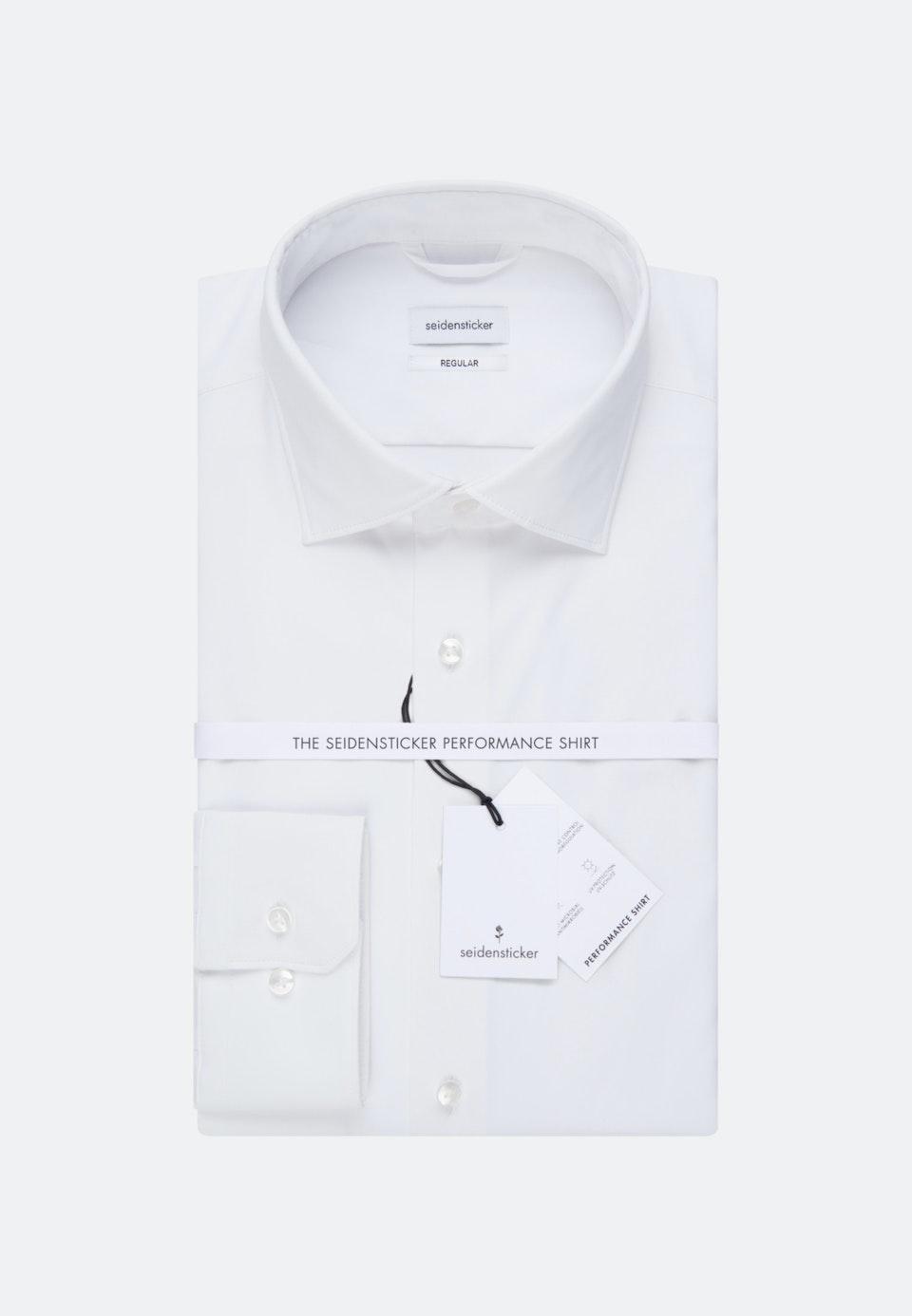 Performancehemd in Regular mit Kentkragen in Weiß    Seidensticker Onlineshop