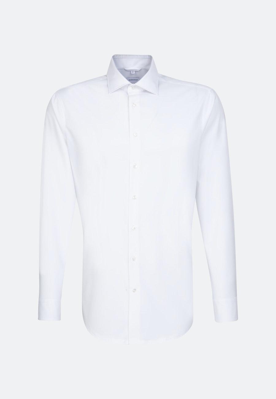Twill Business Shirt in Regular with Kent-Collar in White |  Seidensticker Onlineshop