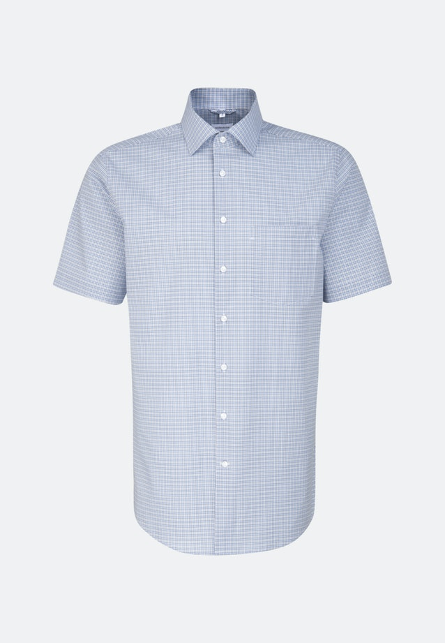 Non-iron Popeline Short sleeve Business Shirt in Regular with Kent-Collar in Light blue |  Seidensticker Onlineshop