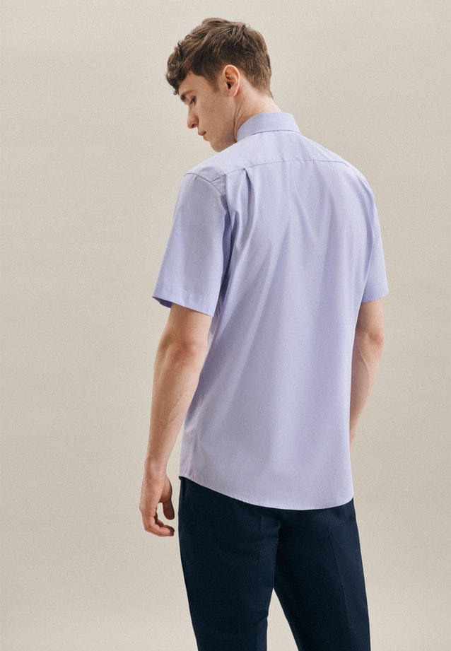 Non-iron Struktur Short sleeve Business Shirt in Regular with Kent-Collar in Light blue    Seidensticker Onlineshop