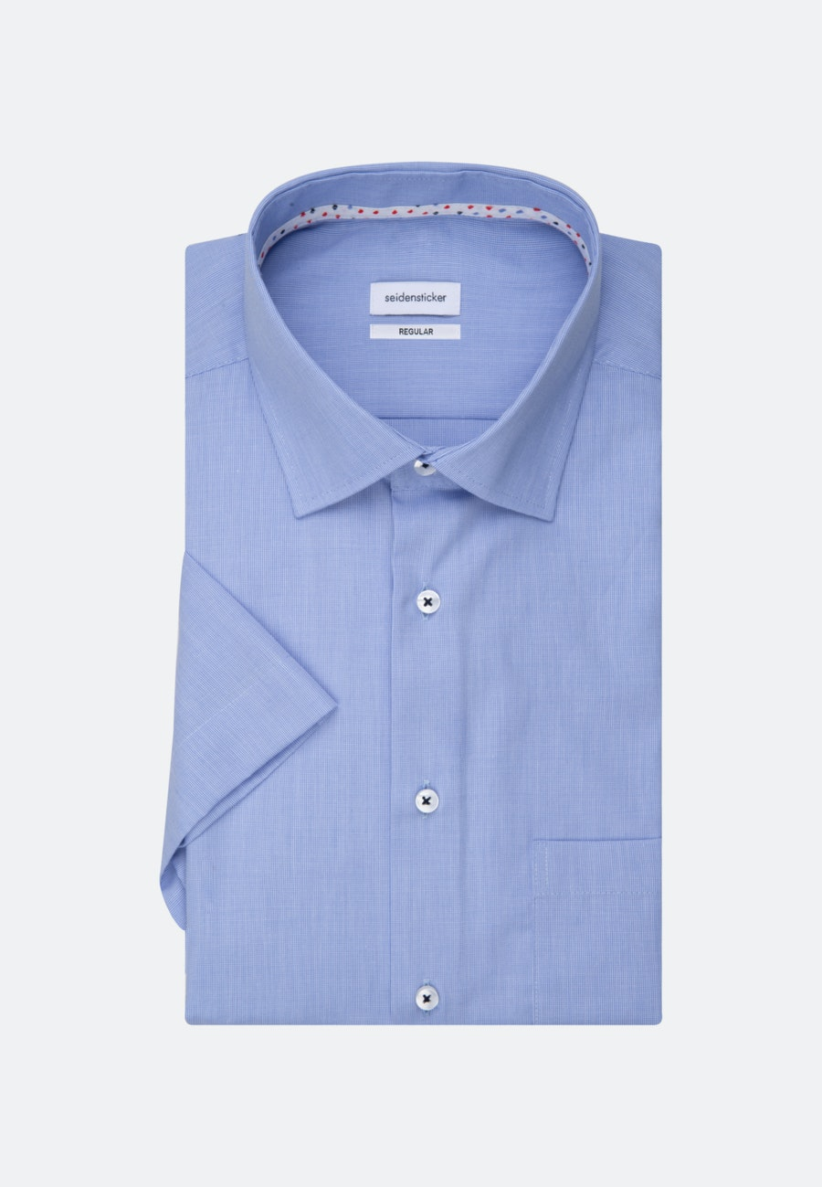 Non-iron Struktur Short sleeve Business Shirt in Regular with Kent-Collar in Light blue |  Seidensticker Onlineshop