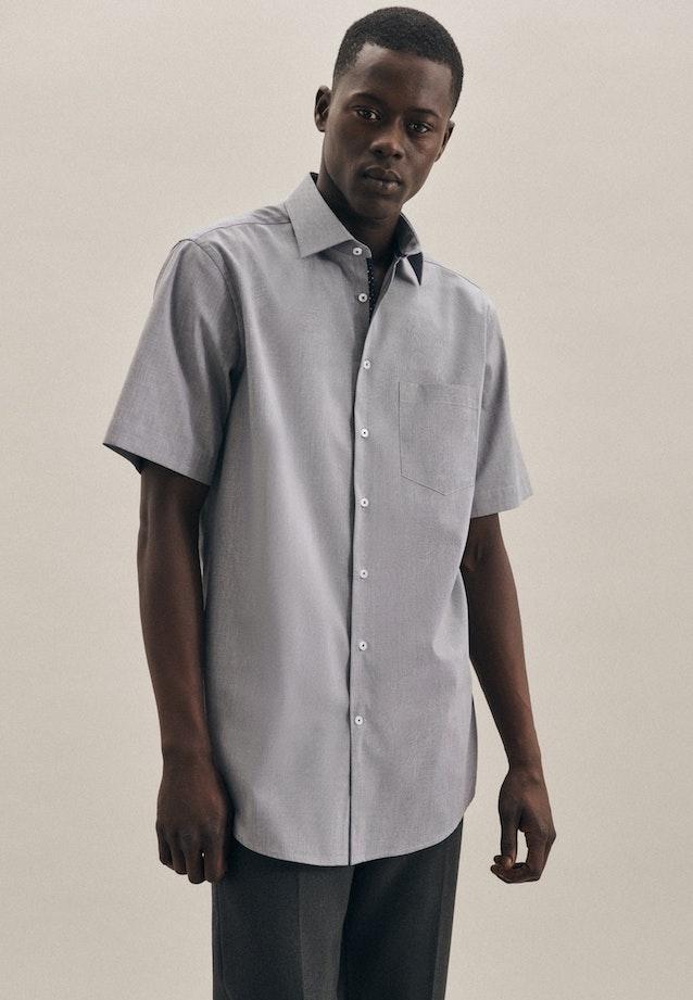 Non-iron Structure Short sleeve Business Shirt in Regular with Kent-Collar in Dark blue |  Seidensticker Onlineshop