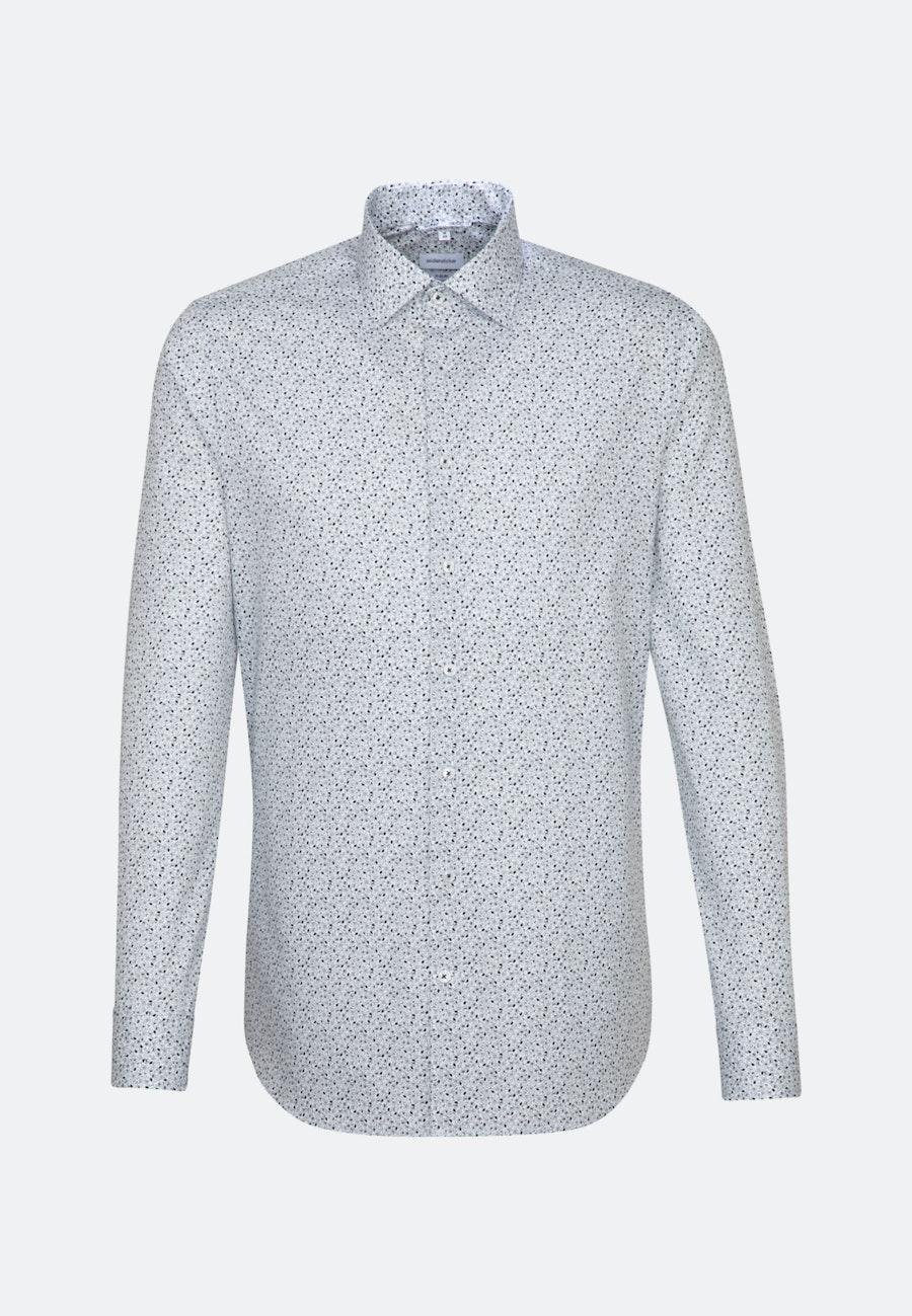 Easy-iron Popeline Business Shirt in X-Slim with Kent-Collar in Dark blue    Seidensticker Onlineshop
