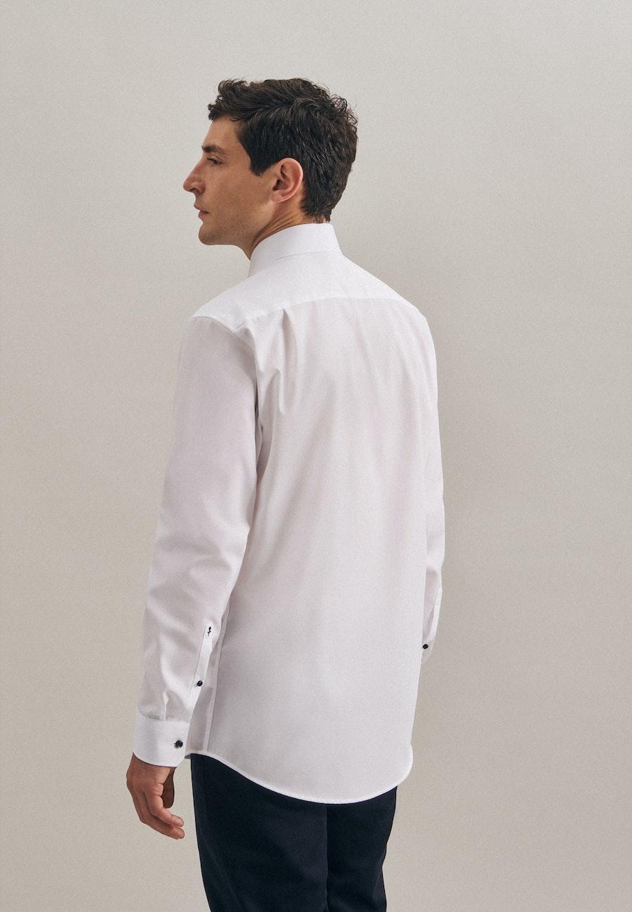 Non-iron Popeline Business Shirt in Regular with Kent-Collar in White    Seidensticker Onlineshop