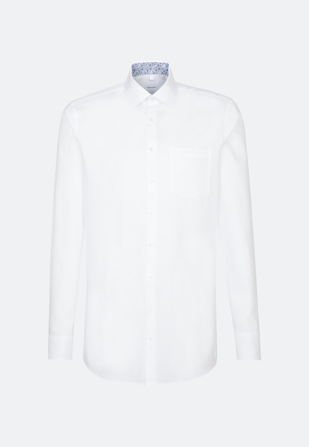 Non-iron Oxford Business Shirt in Regular with Kent-Collar and extra long sleeve in White |  Seidensticker Onlineshop