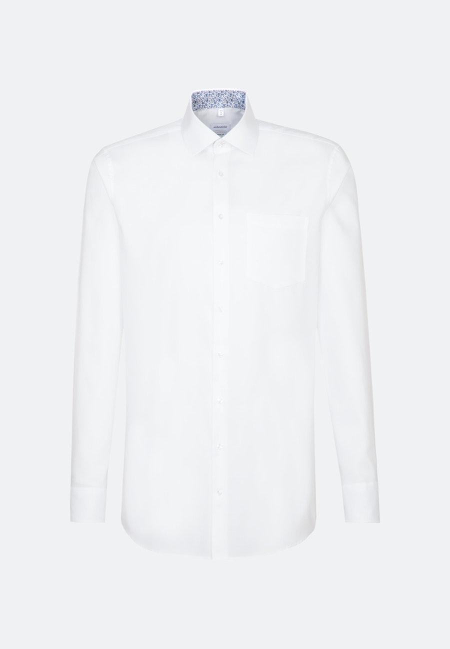 Bügelfreies Oxford Business Hemd in Regular mit Kentkragen und extra langem Arm in Weiß |  Seidensticker Onlineshop