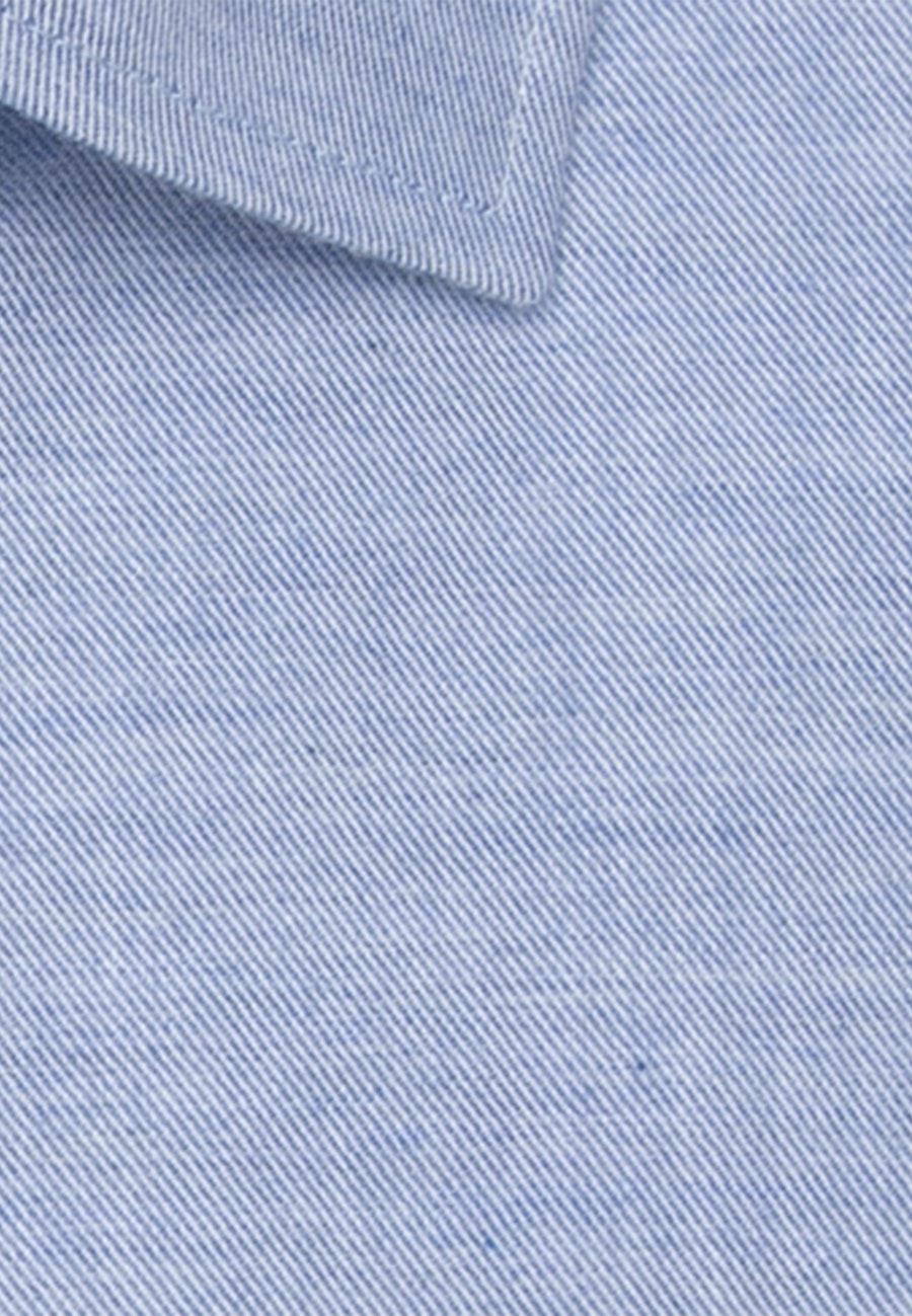 Easy-iron Twill Business Shirt in Regular with Kent-Collar and extra long sleeve in Light blue |  Seidensticker Onlineshop