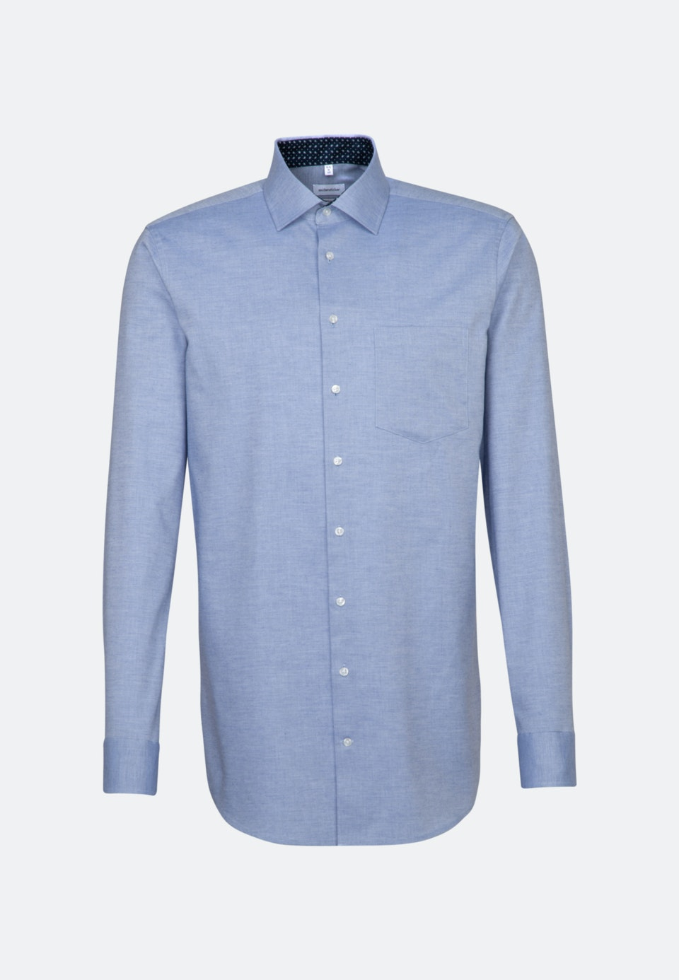 Bügelleichtes Twill Business Hemd in Regular mit Kentkragen und extra langem Arm in Hellblau |  Seidensticker Onlineshop