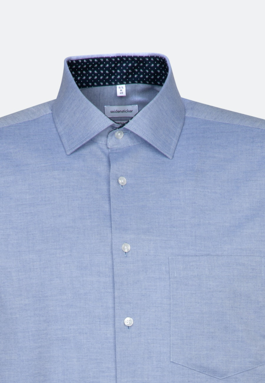 Easy-iron Twill Business Shirt in Regular with Kent-Collar and extra long sleeve in Light blue    Seidensticker Onlineshop