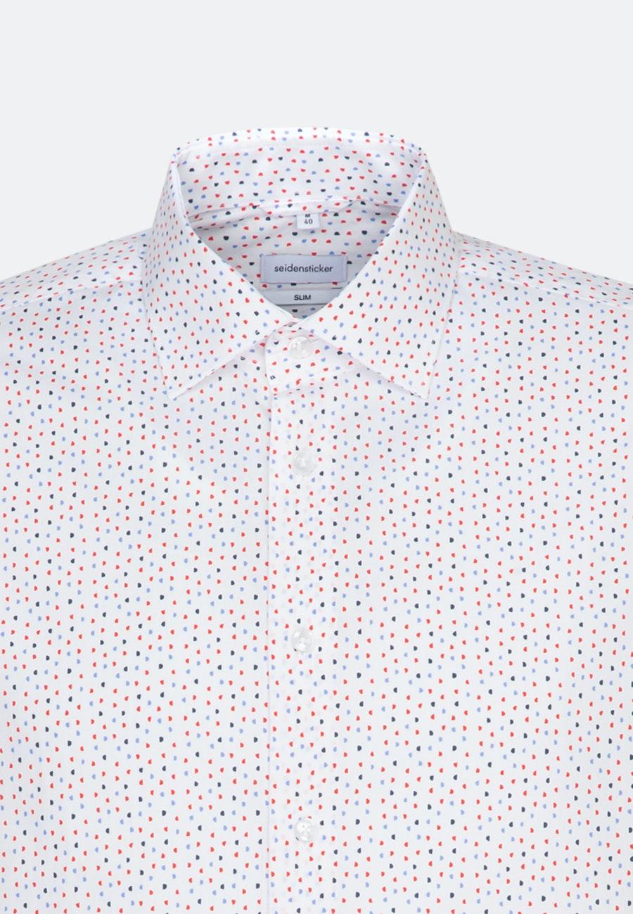 Popeline Business Hemd in Slim mit Kentkragen in Rot |  Seidensticker Onlineshop
