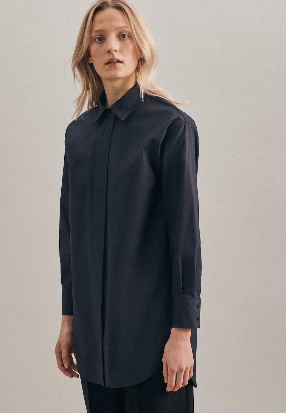 Popeline Shirt Blouse made of 100% Cotton in Grey |  Seidensticker Onlineshop