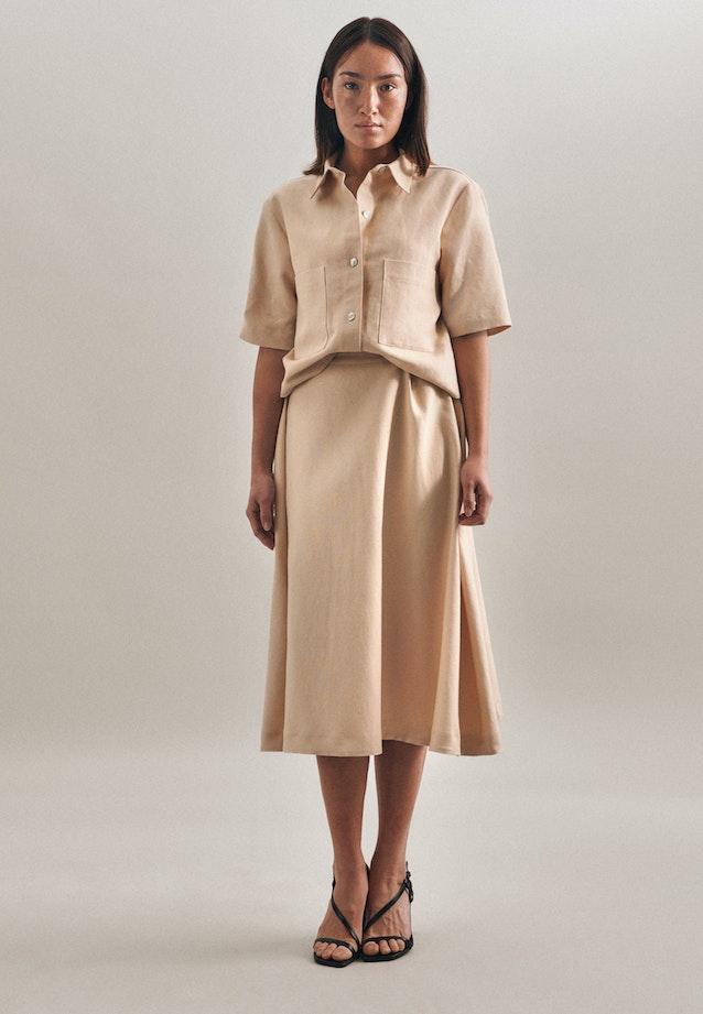 Leinen Midi Skirt made of linen blend in Brown |  Seidensticker Onlineshop