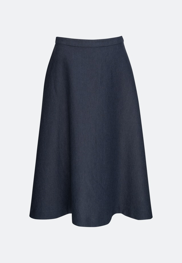 Leinen Midi Skirt made of linen blend in Dark blue |  Seidensticker Onlineshop