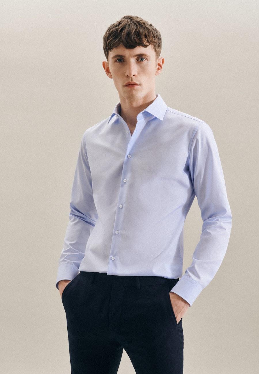 Non-iron Popeline Business Shirt in X-Slim with Kent-Collar in Medium blue    Seidensticker Onlineshop
