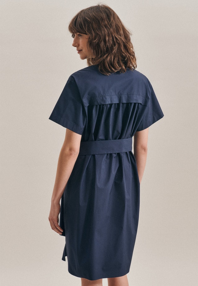 Popeline Midi Dress made of 100% Cotton in Dark blue |  Seidensticker Onlineshop