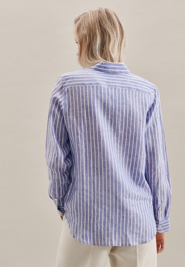 Leinen Shirt Blouse made of 100% Linen in Medium blue |  Seidensticker Onlineshop