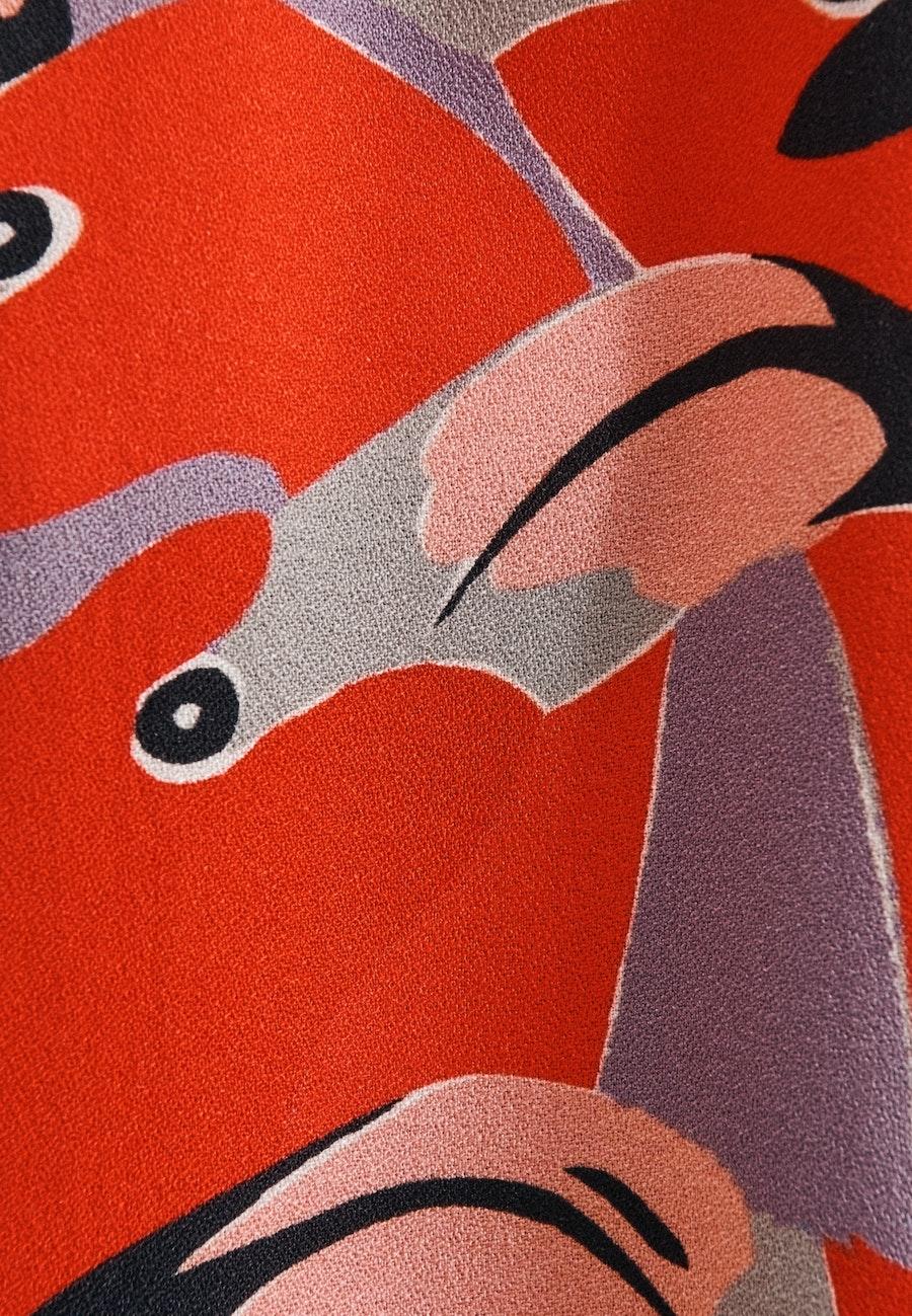 Ärmellose Krepp Shirtbluse aus 100% Viskose in Rot |  Seidensticker Onlineshop