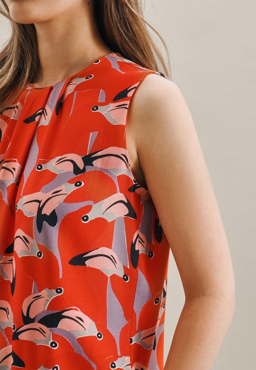 Sleeveless Krepp Shirt Blouse made of 100% Viscose in Red |  Seidensticker Onlineshop