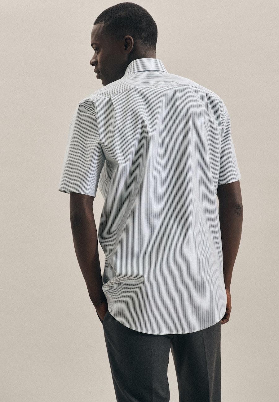 Bügelfreies Oxford Kurzarm Business Hemd in Regular mit Kentkragen in Grün    Seidensticker Onlineshop