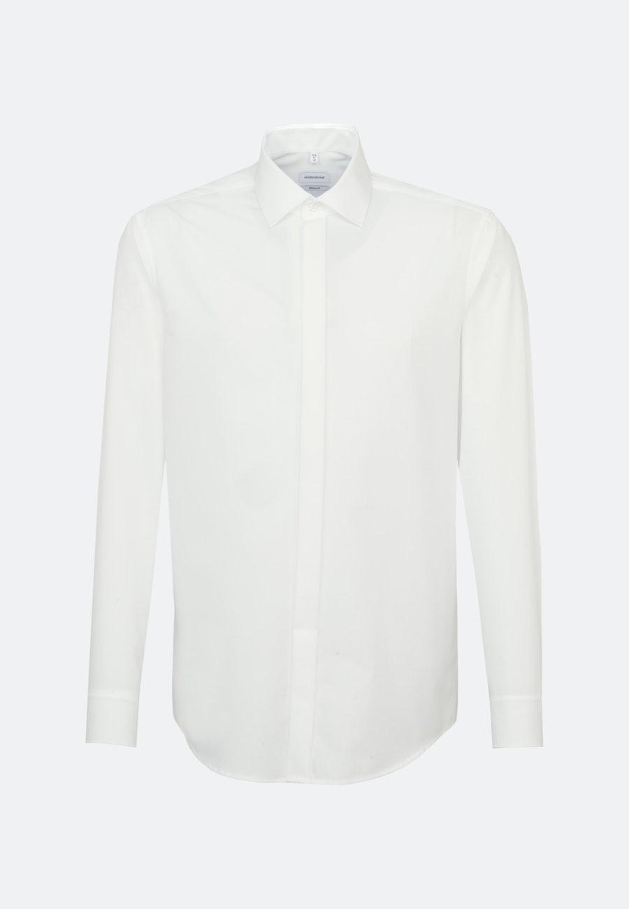 Non-iron Poplin Gala Shirt in Regular with Kent-Collar in Brown |  Seidensticker Onlineshop