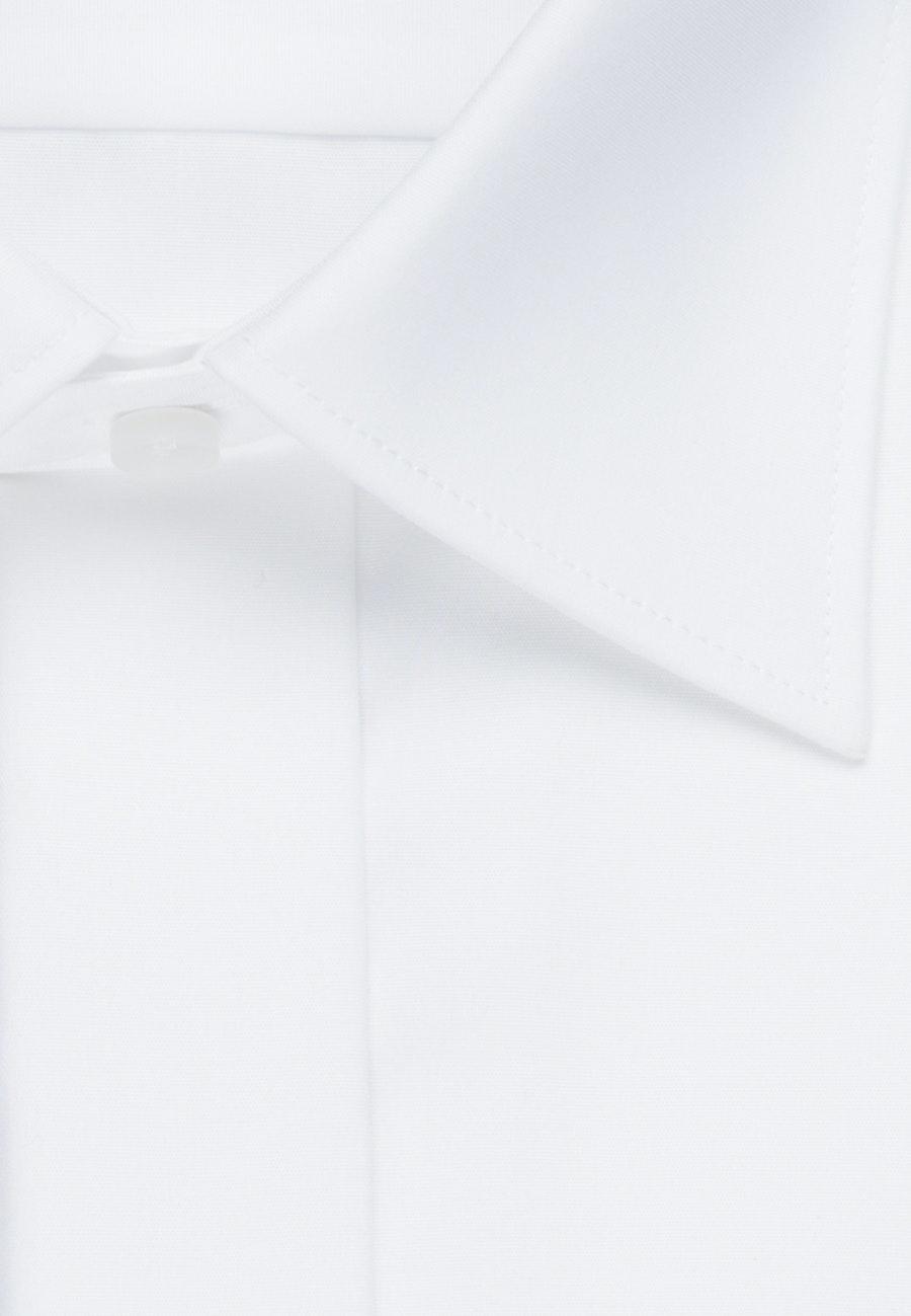 Bügelfreies Popeline Smokinghemd in Regular mit Kentkragen in Weiß    Seidensticker Onlineshop