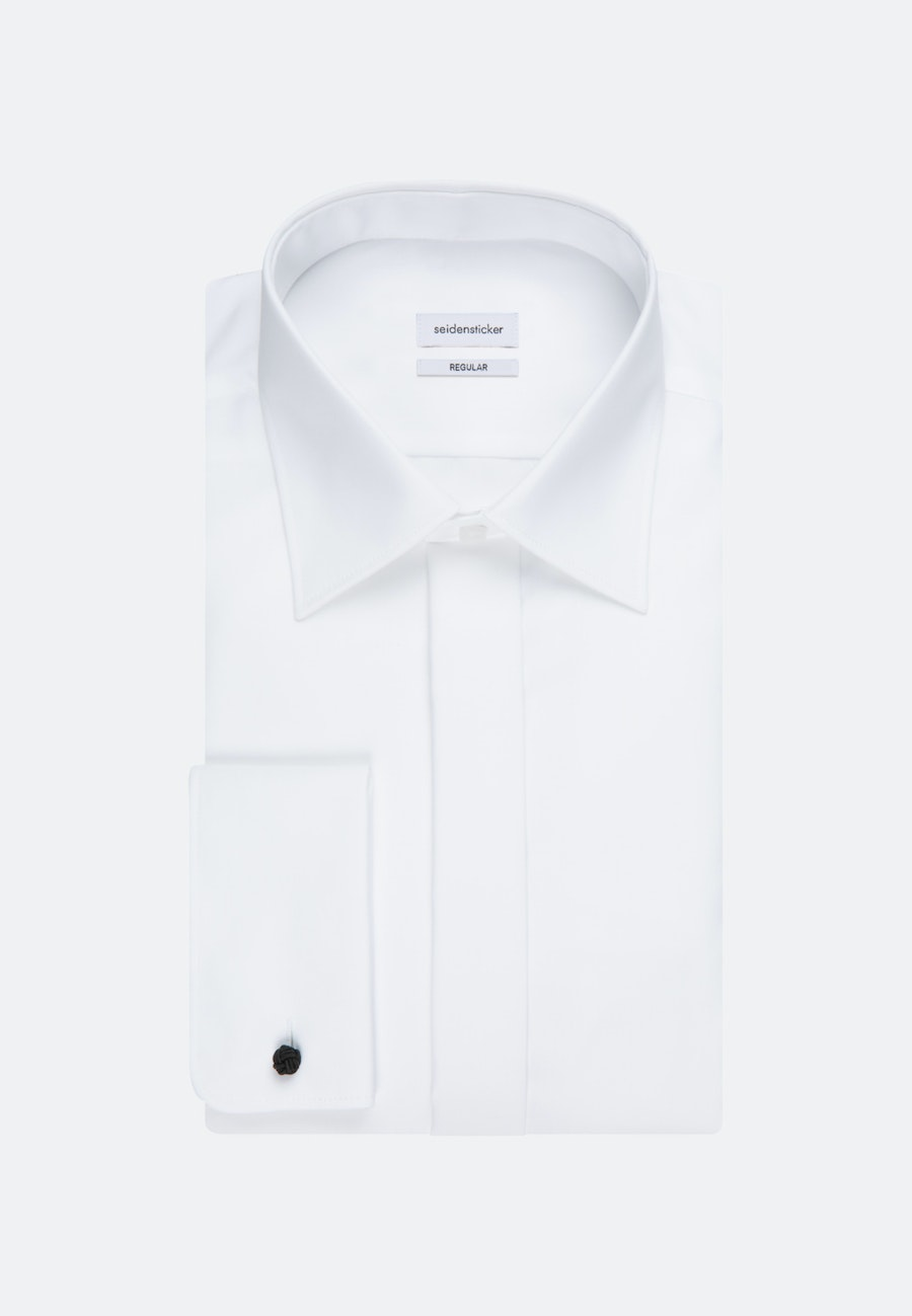 Non-iron Popeline Gala Shirt in Regular with Kent-Collar in White |  Seidensticker Onlineshop