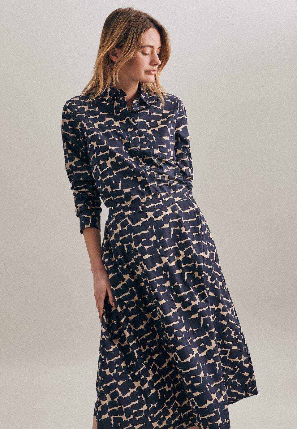 Poplin Shirt Blouse made of 100% Cotton in Dark blue    Seidensticker Onlineshop