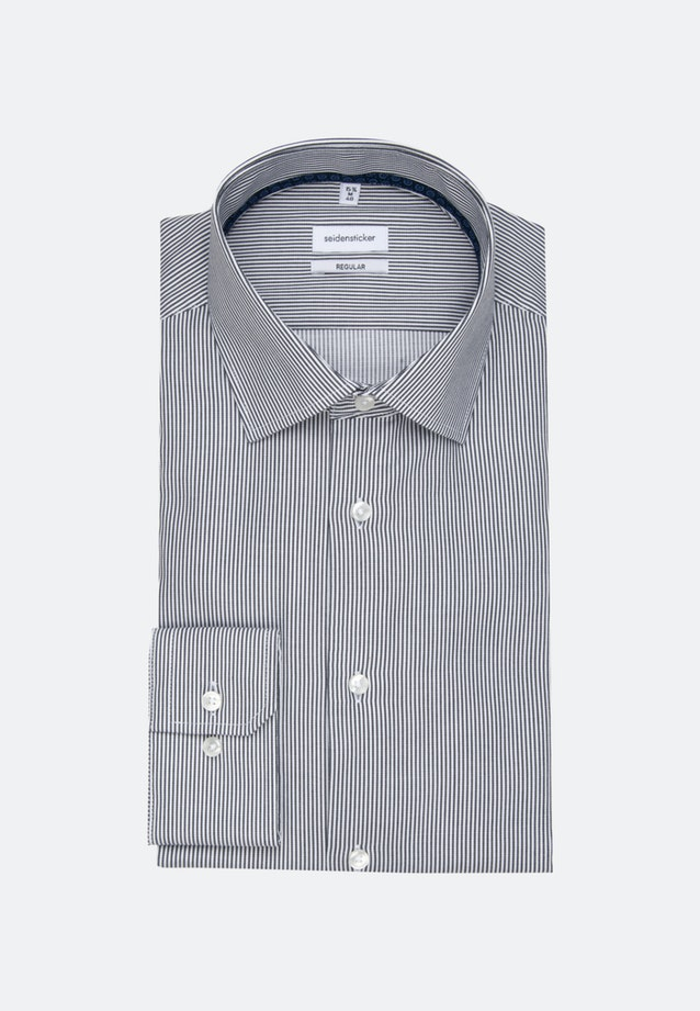 Non-iron Twill Business Shirt in Regular with Kent-Collar and extra long sleeve in Dark blue    Seidensticker Onlineshop