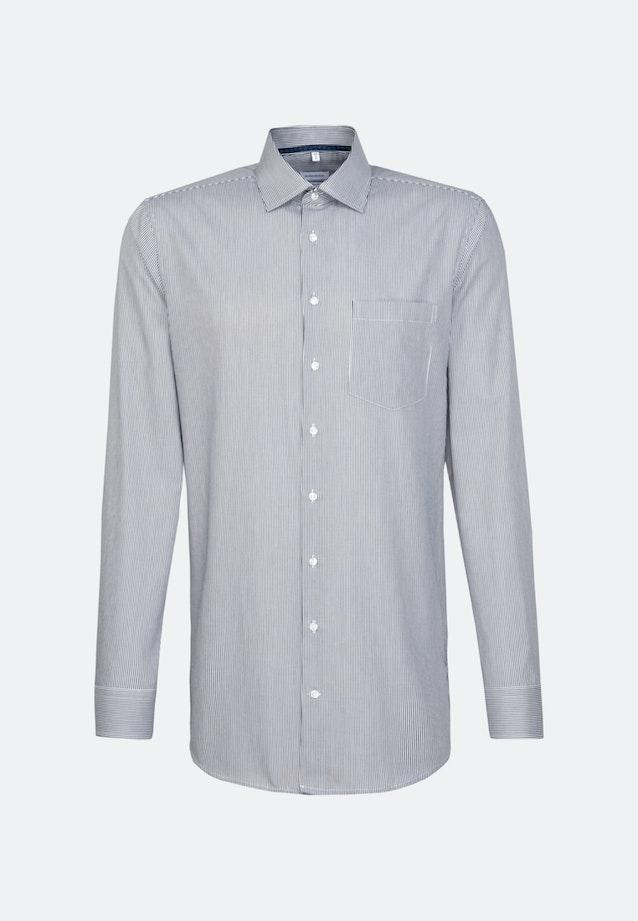 Bügelfreies Twill Business Hemd in Regular mit Kentkragen und extra langem Arm in Dunkelblau    Seidensticker Onlineshop