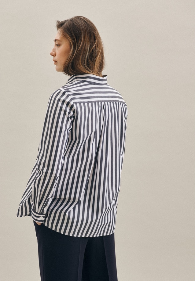 Popeline Shirt Blouse made of 100% Cotton in Dark blue |  Seidensticker Onlineshop