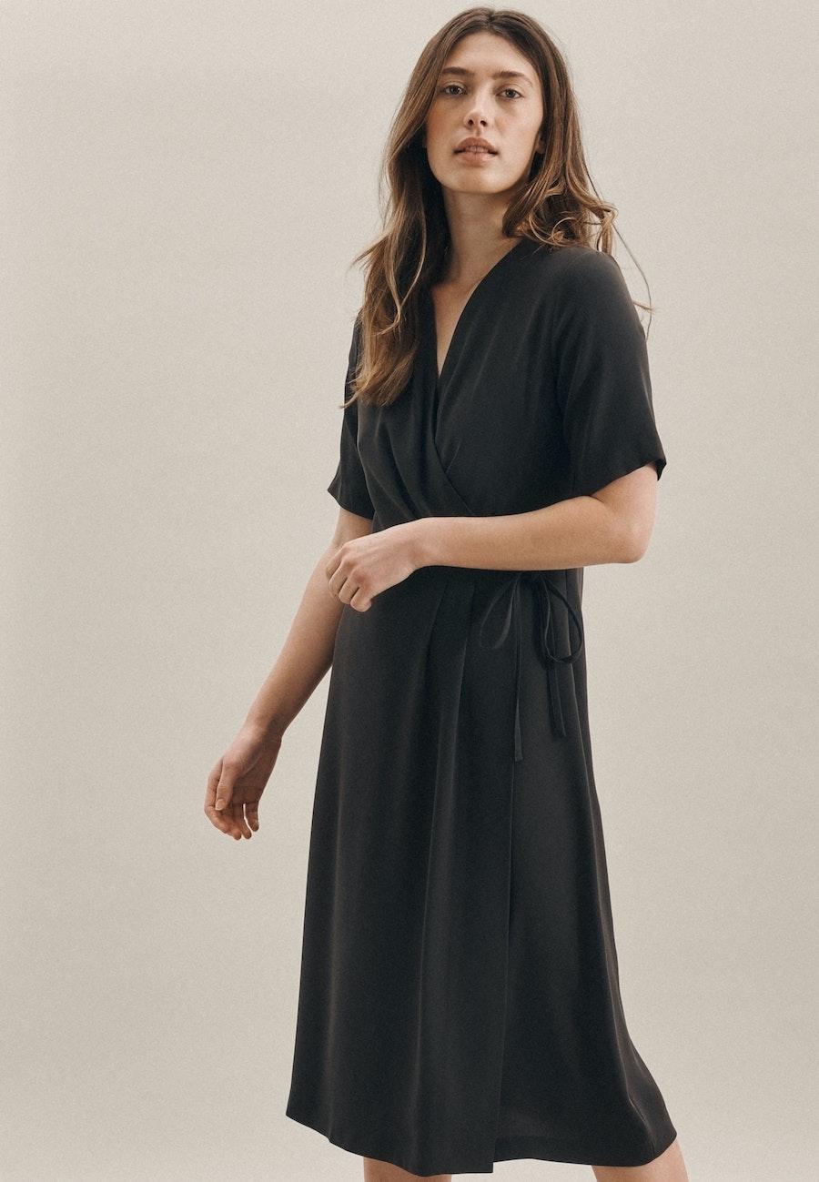 Krepp Midi Kleid aus 100% Polyester in Grau    Seidensticker Onlineshop