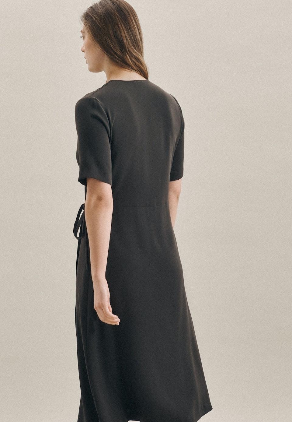 Krepp Midi Kleid aus 100% Polyester in Grau |  Seidensticker Onlineshop