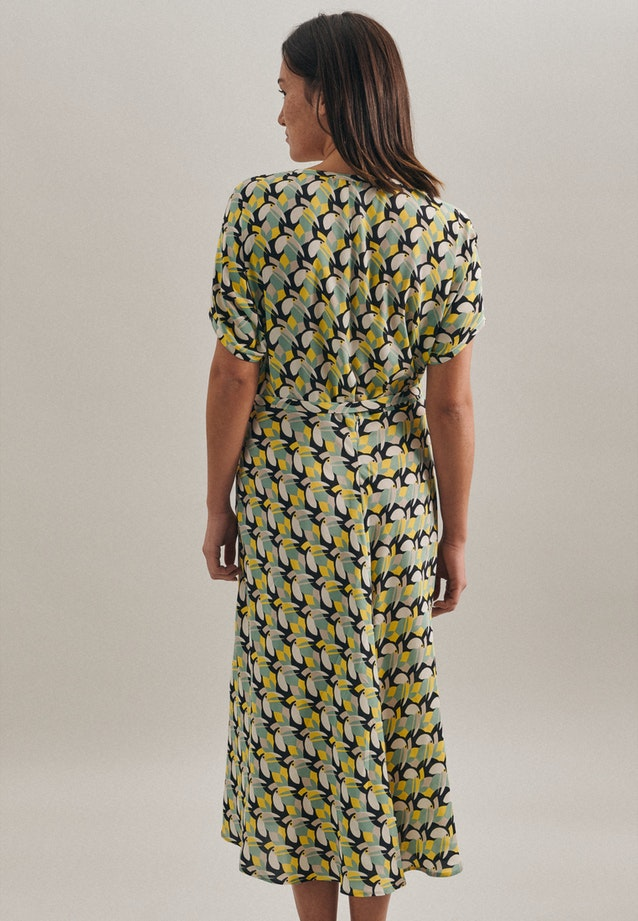 Popeline Midi Dress made of 100% Viscose in Yellow |  Seidensticker Onlineshop