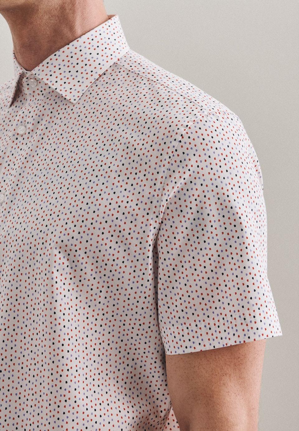 Poplin Short sleeve Business Shirt in Shaped with Kent-Collar in Red |  Seidensticker Onlineshop