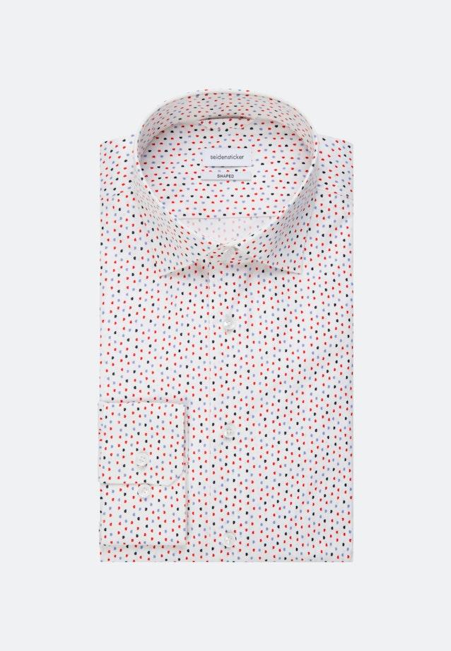 Bügelleichtes Popeline Business Hemd in Shaped mit Kentkragen in Rot    Seidensticker Onlineshop