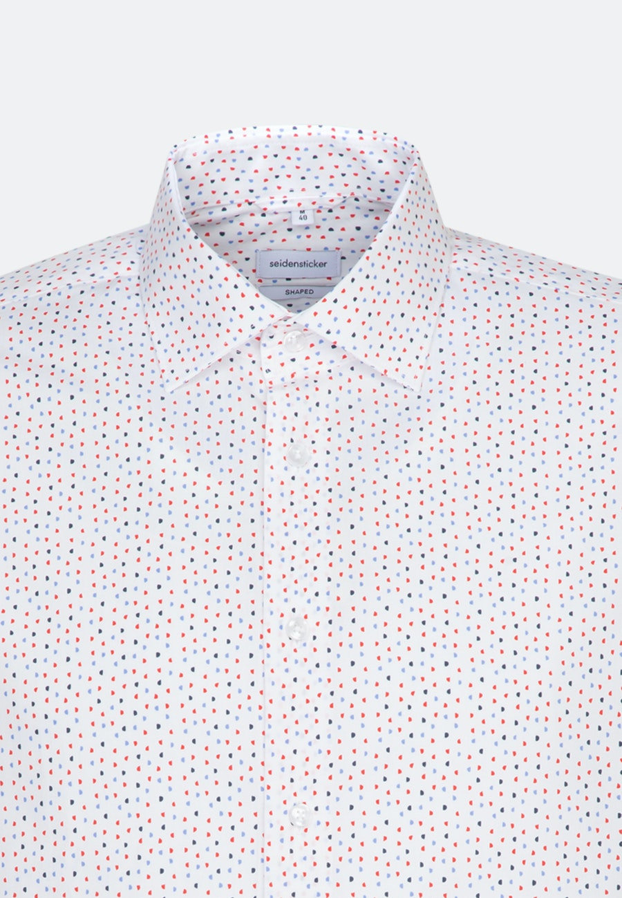 Easy-iron Popeline Business Shirt in Shaped with Kent-Collar in Red    Seidensticker Onlineshop