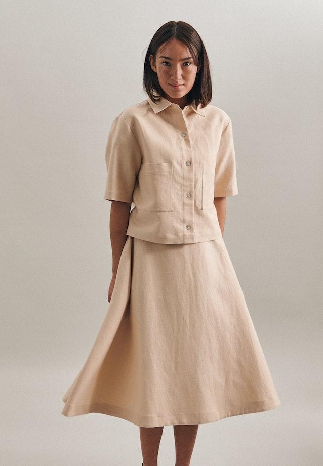 Kurzarm Leinen Jacke aus Leinenmischung in Braun |  Seidensticker Onlineshop