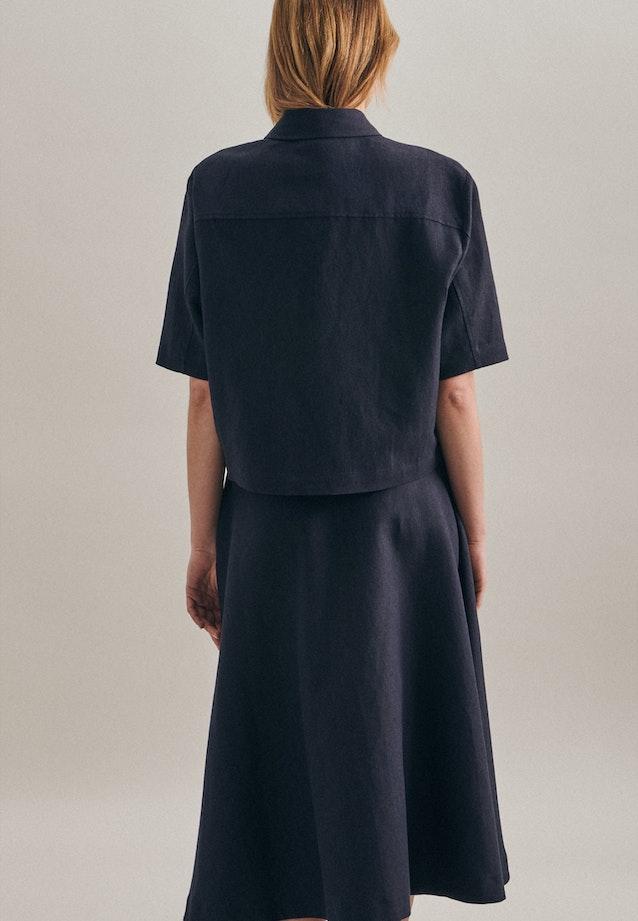Short sleeve Leinen Jacket made of linen blend in Dark blue |  Seidensticker Onlineshop