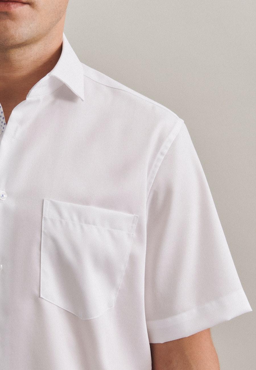 Non-iron Twill Short sleeve Business Shirt in Regular with Kent-Collar in White |  Seidensticker Onlineshop