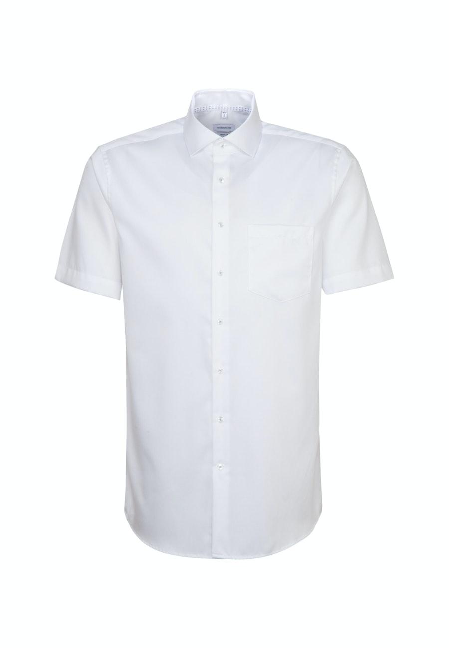 Bügelfreies Twill Kurzarm Business Hemd in Regular mit Kentkragen in Weiß    Seidensticker Onlineshop