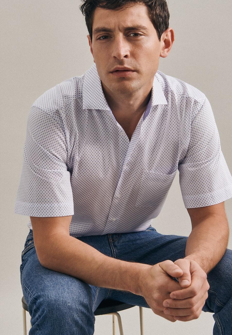 Twill Kurzarm Business Hemd in Regular mit Kentkragen in Weiß |  Seidensticker Onlineshop