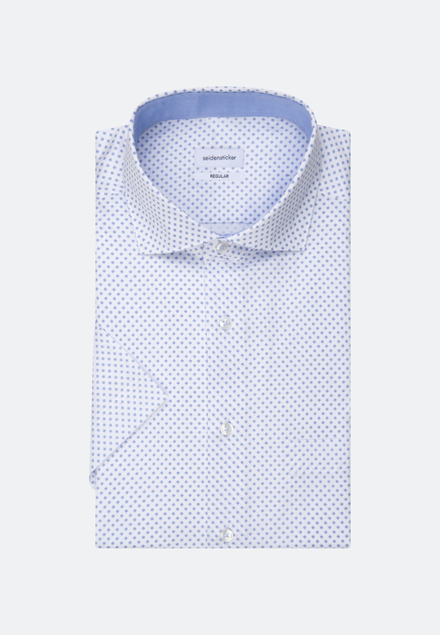 Easy-iron Twill Short sleeve Business Shirt in Regular with Kent-Collar in White |  Seidensticker Onlineshop